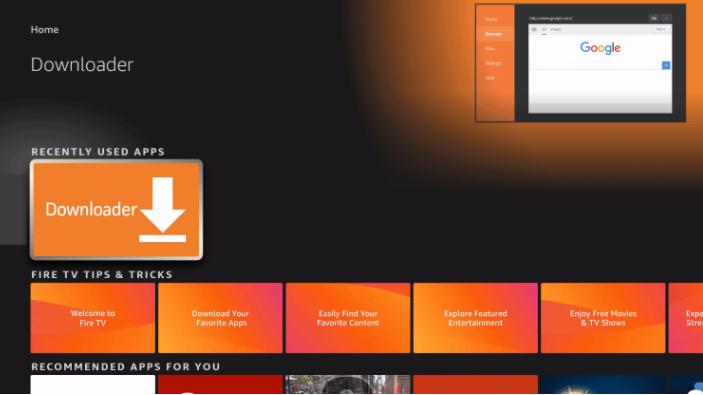 Download Downloader App on FireStick & Fire TV