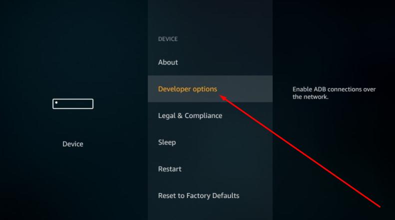 CucoTV APK - Developer Options