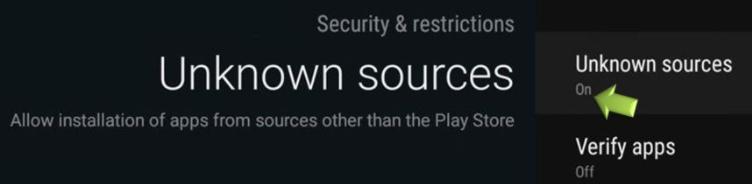 Enable Unknown Sources - CucoTV App