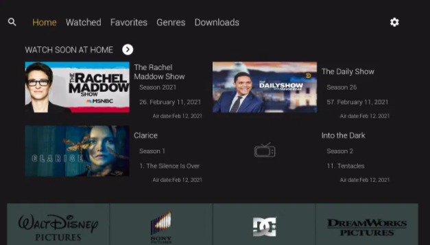 CucoTV App Movies and TV Shows Feature