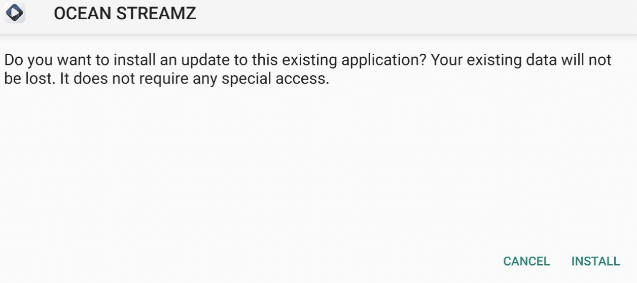 Install Ocean Streamz APK on Android