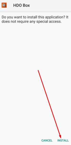 Install HDO Box APK on Android