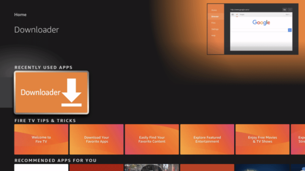 Downloader App Install on FireStick