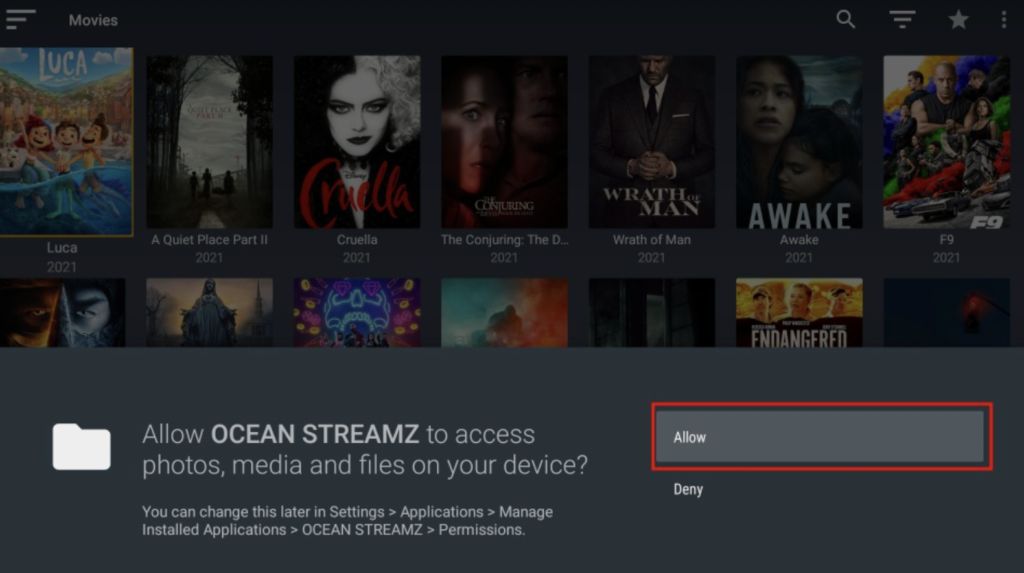 Ocean Streamz App Movies and TV Shows on FireStick